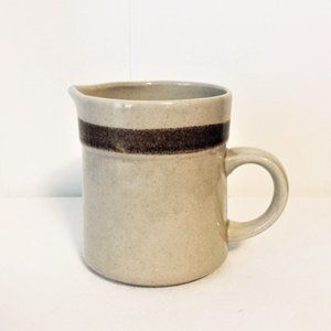 Country Living Stoneware Beige Brown Band Creamer